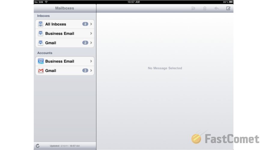 how do i hook up my email to my ipad Tap settings mail, contacts, calendars add account 2 tap microsoft exchange 3 you don't need to enter anything in the domain box enter the information requested in the email, username, and password boxes you need to enter your full e-mail address in the email and username boxes (for example,.