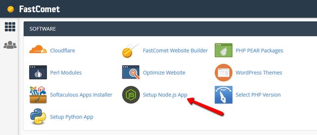 Find Setup Node.js App in cPanel - FastComet Blog