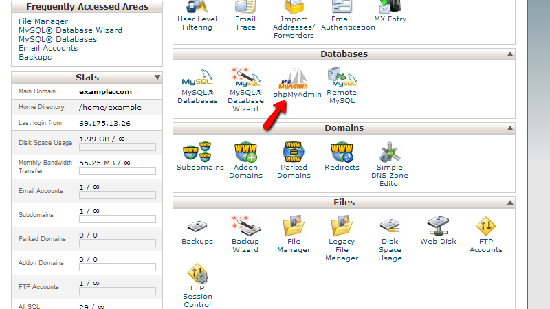 accessing-cpanel-phpmyadmin
