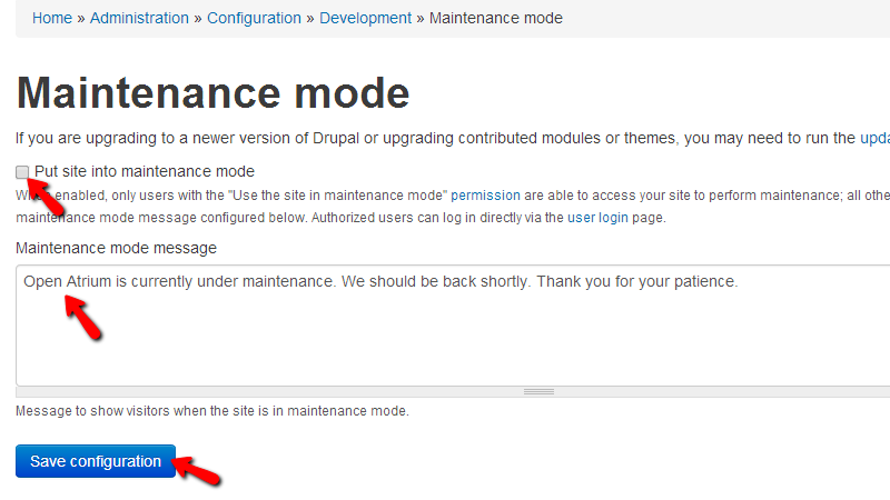 configuring-the-maintenance-mode