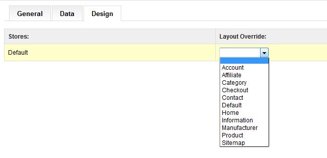 OpenCart category design