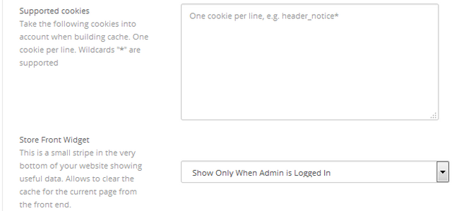 Take cookies into account when building your store cache