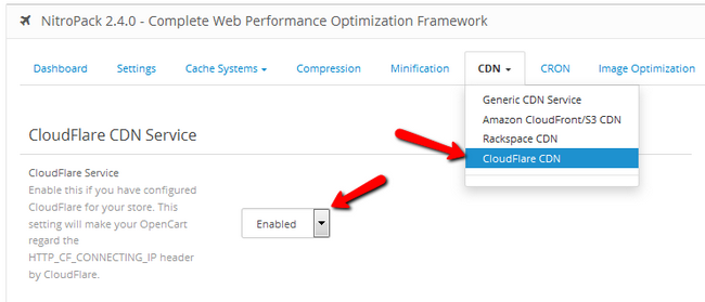Configuring CloudFlare CDN IP header with OpenCart 2