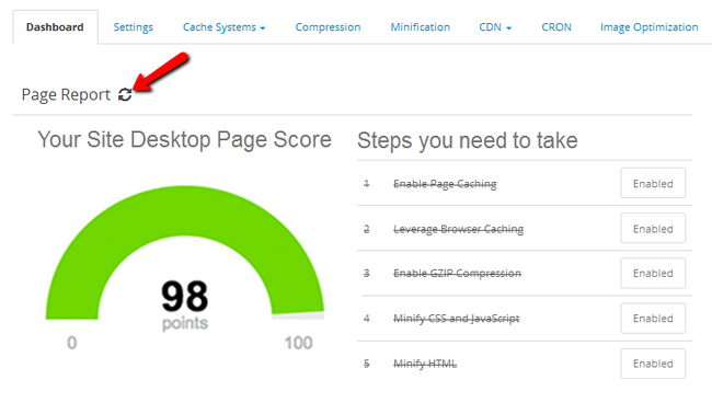 Googe PageSpeed results for your store after optimizing with NitroPack