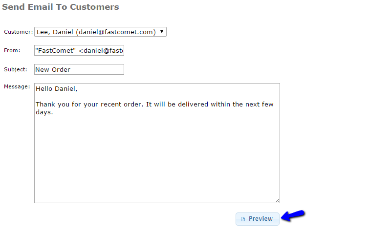 Email Existing Customer in osCommerce