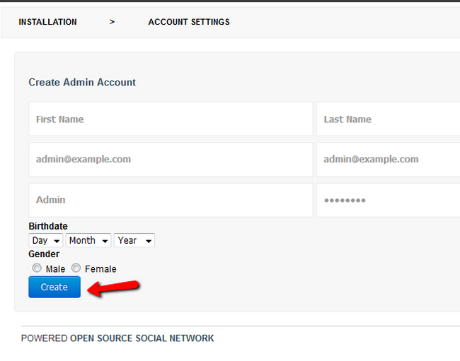 Creating the Administrators account