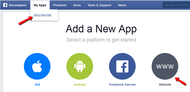 Adding a New App as a Facebook Developer