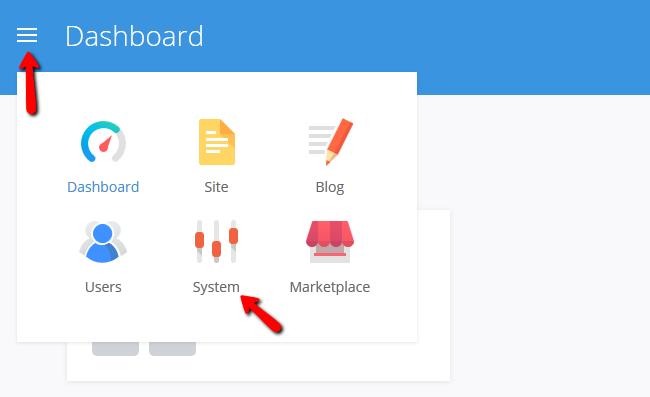 Accessing the System Settings menu