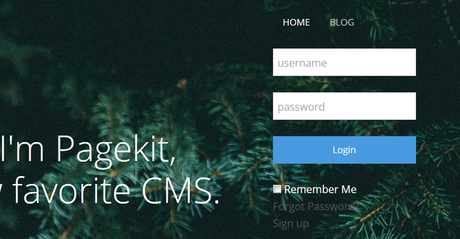 The newly added Login Form Widget fully operational