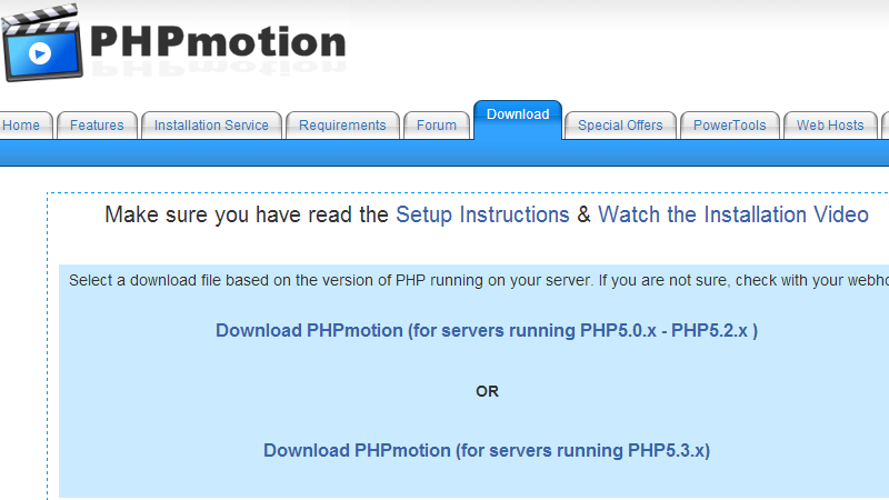 downloading-phpmotion-php-version