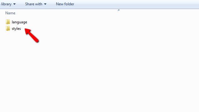 downloaded folders