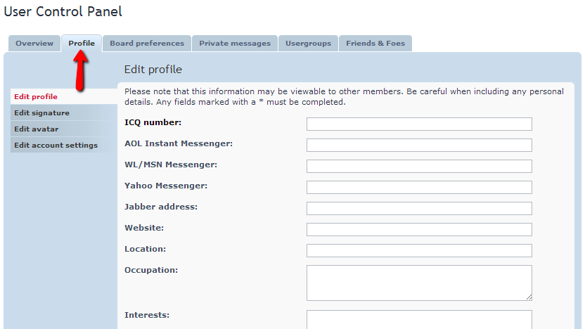 How to Edit Profiles - phpBB3 Tutorial - FastComet