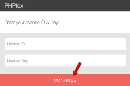 Enter License Details during PHPFox Neutron Installation