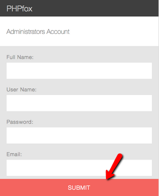 Create Admin Account During PHPFox Neutron Installation