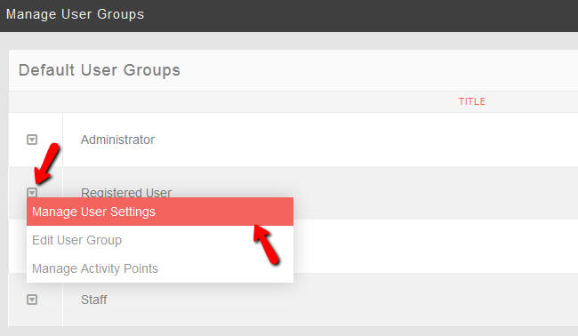 Manage User Groups Settings in PHPFox Neutron