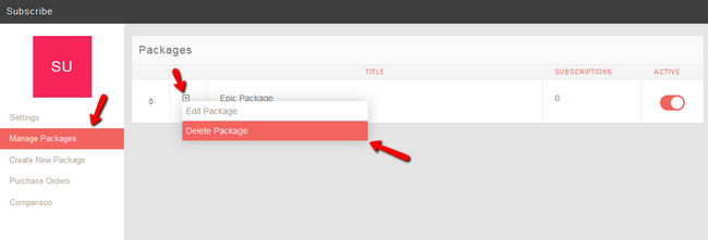 Delete Subscription Package in PHPFox Neutron