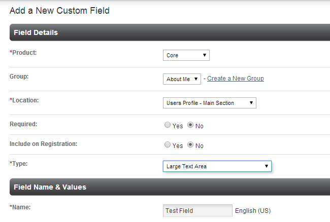 Edit details of a custom field in PHPFox