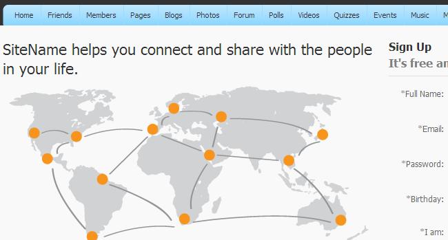 PHPFox world image