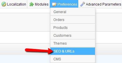 Preferences-SEO-URL