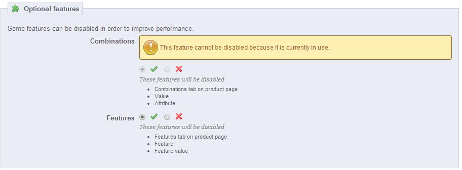 Optional-features-optimization
