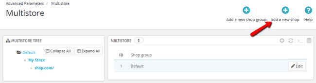 Adding a new Shop in PrestaShop 1.6