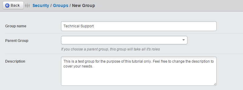 Edit group details in SilverStripe