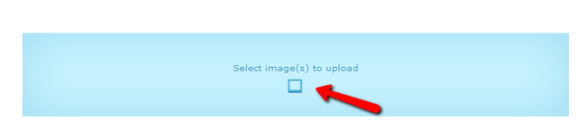 Selecting the image for upload