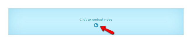 Embeding a video in Sitecake