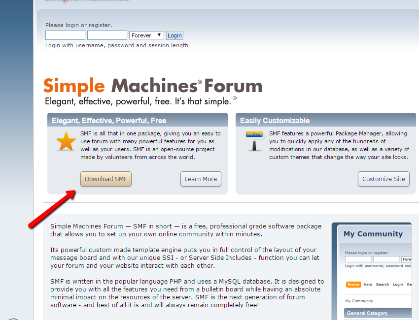 Download Simple Machines FOrum