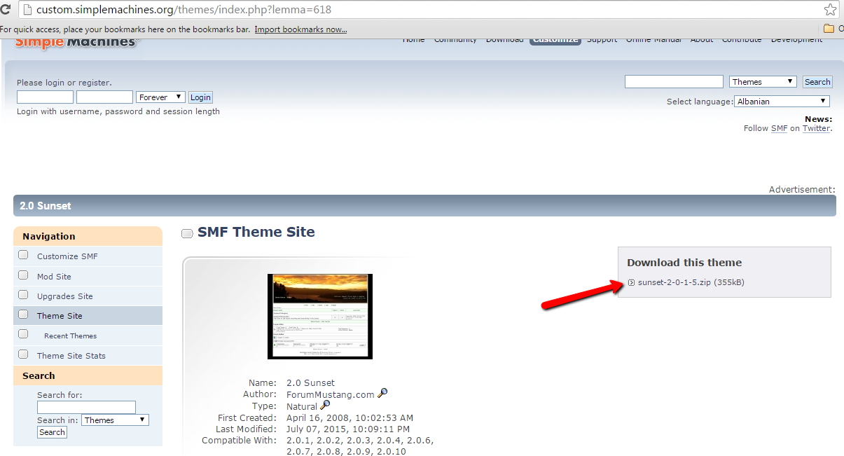 Download SMF Themes
