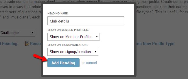 Add a new heading for profile types in SocialEngine
