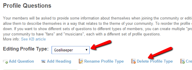 Remove a profile type in SocialEngine