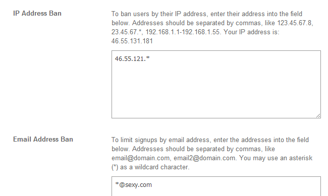 Ban an IP address in SocialEngine