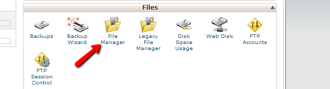 Access cPanel file manager