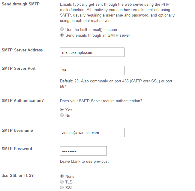 Configure SMTP in SocialEngine