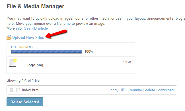 Upload files via SocialEngine media manager