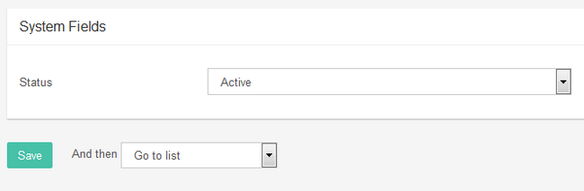 Setting the menu active and Saving the configuration