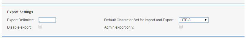 Configuring the Export Settings