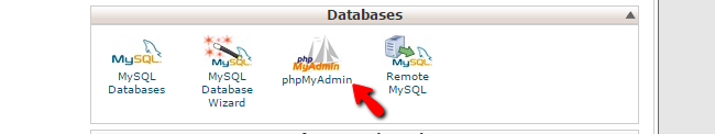 accessing phpMyAdmin