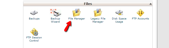 accessing the file manager