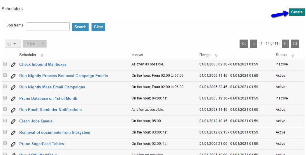 Create New Scheduled Job in SuiteCRM