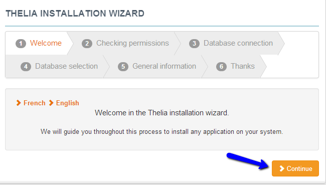 Welcome to Thelia installation wizard