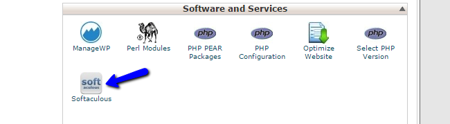Access Softaculous via cPanel