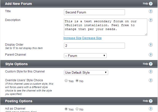 Edit forum details in vBulletin