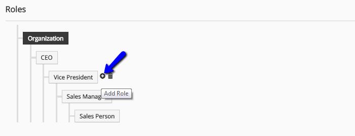 Edit roles in vTiger