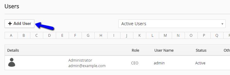 Add new user in vTiger