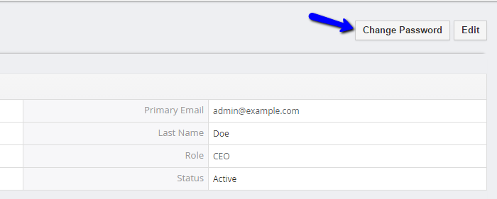 Change password feature in vTiger