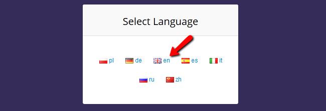 windu language settings