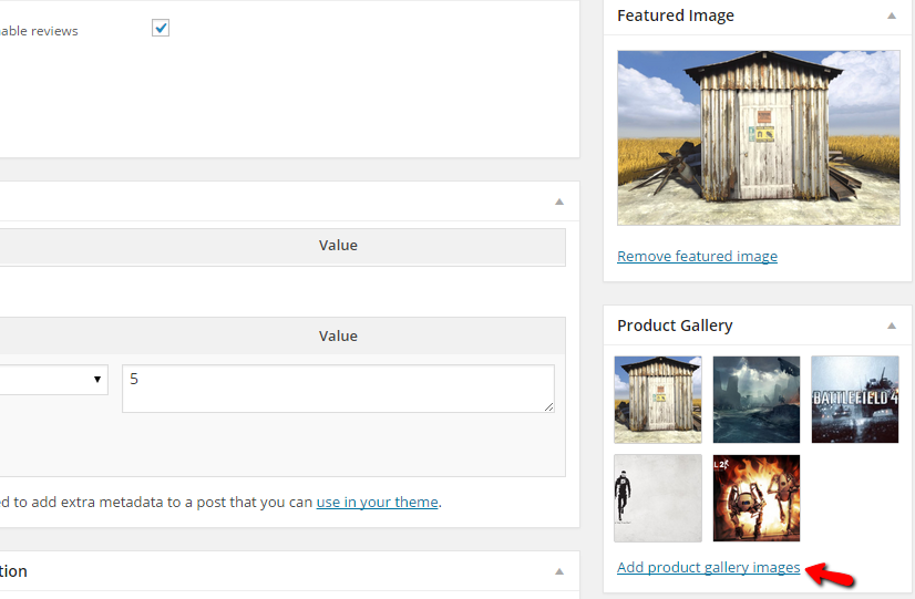 adding product gallery