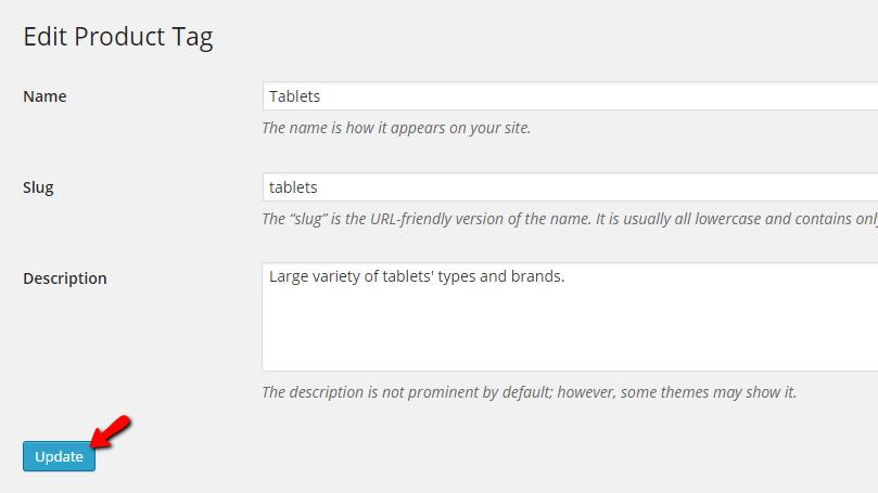 Editing existing tag